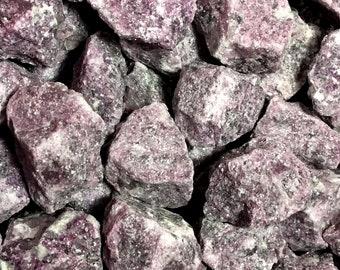 Bulk 1lb MEDIUM Rough Purple Lepidolite Gemstones, Bulk Wholesale Stones, Purple Lepidolite Gemstones, Bulk Raw Crystals, Bulk Gemstones