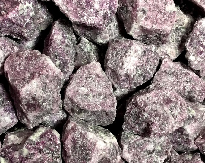 Bulk 1lb MEDIUM Rough Purple Lepidolite Gemstones, Bulk Wholesale Stones, Purple Lepidolite Gemstones, Bulk Raw Crystals, Bulk Gemstones