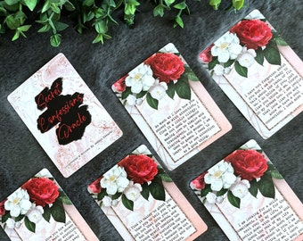 The Secret Confessions Oracle Deck, (104 Cards Poker Size Oracle Deck), Handcrafted Custom Relationship Romance Love Oracle Cards Deck