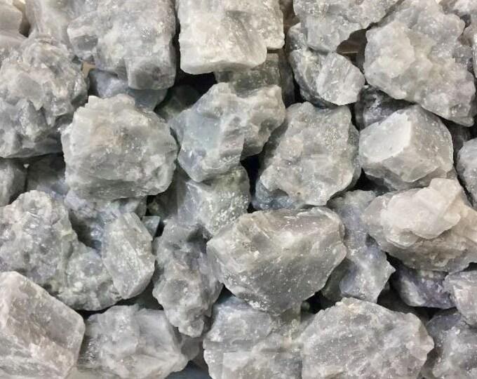 Bulk 1/2lb MEDIUM Rough Gray Calcite Rock Gemstones Crystals Bulk Wholesale 8 Ounce Chunk Calcite, Bulk Crystals, Bulk Gemstones Rocks