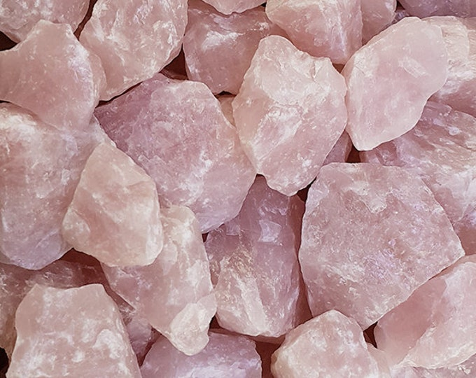 Bulk 1lb Raw Pink Rose Quartz Gemstones, Bulk Wholesale Rose Quartz Rough Crystals Stones, Pink Rough Gems, Bulk Crystals, Bulk Gemstones