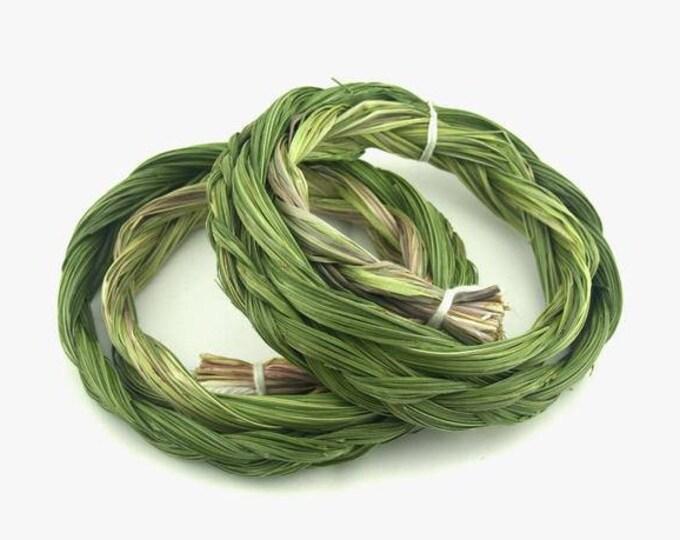 1 Sweetgrass Braid, 18 Inch Sweetgrass Braid Bundle, Sweetgrass Smudge Kit Tool Supplies, Ceremony Prayer Smudge Supplies