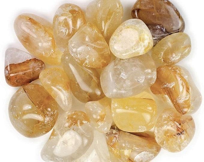 Bulk 1lb Tumbled Red Gold Hematoid Quartz Gemstones, Bulk Wholesale Polished Lithium Fire Hematite Quartz, Bulk Crystals, Bulk Gemstones