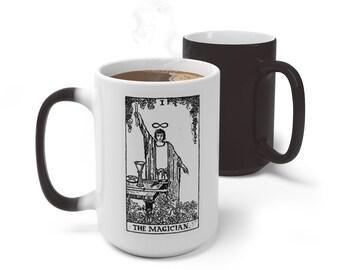 Tarot Card Color Changing Mug, The Magician Tarot Mug, 11oz 15oz Mug, Magic Mug, Occult Divination Mug, Color Change Cup, Ceramic Mug