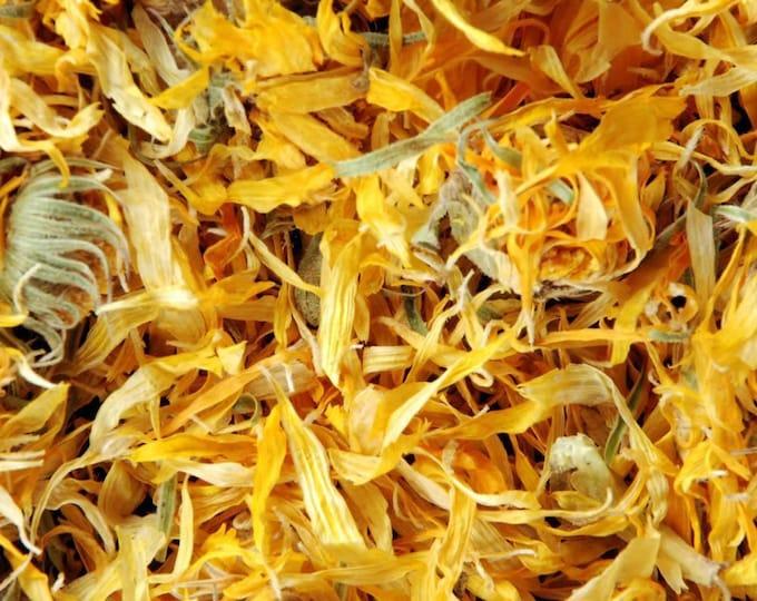 1lb Calendula Flower Dried Cut, Calendula Dried 1 Pound Cut, Bulk Wholesale Dried Calendula, Calendula Flower 1lb (Calendula officinalis)
