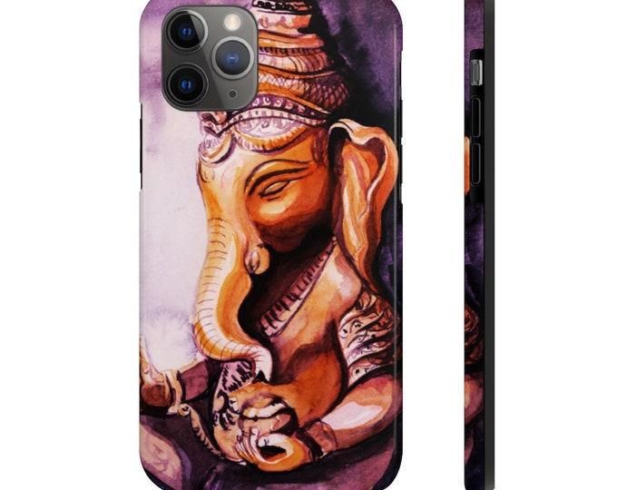 Case Mate Tough Phone Case, iPhone Samsung Phone Cover, Boho Lord Ganesha Phone Case, iPhone 11/11 Pro, Samsung Galaxy, iPhone XS XR