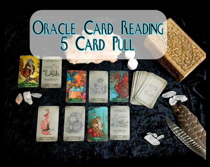5 CARD ORACLE Psychic Reading, Professional Detailed, 20+ Yrs Experience, Love Family Finance Career, Oracle Card Reading, Intuitive Reading