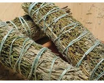 3pk Stargate White Sage, Rosemary, Sweetgrass Wands Bundle, Smudge Supplies, 4 Inch Sage Bundles, Sage Smudge Bundle Sage Wands