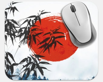 Japanese Art Mouse Pad, Asian Art Mouse Pad, Computer Accessories, Tech Desk Supplies, Boho Bohemian Hippie Mouse Pad, Neoprene Mouse Pad
