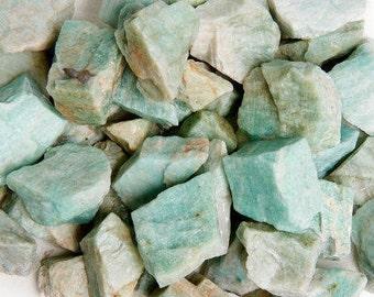 Bulk 1lb Raw Amazonite Rock Gemstone, Rough Amazonite, Bulk Wholesale 1 Pound Amazonite, Rough Blue Amazonite Bulk, Amazonite Feldspar Gem