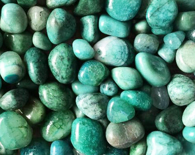 Bulk 1/2lb Tumbled Dyed Green Aqua Agate Gemstones, Bulk Wholesale Party Colors Tumbled Stones, Dyed Blue Gemstones, Bulk Crystals Agate
