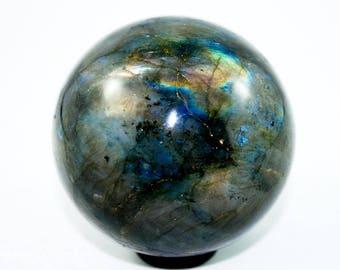 40mm Labradorite Sphere, Labradorite Crystal Ball, Labradorite Gemstone Sphere, Gemstone Crystal Sphere Ball, Healing Crystal Mineral Rock