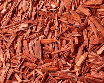 1lb Bulk Red Sandalwood Cut Sifted, Red Sandalwood 1lb Cut, Bulk Wholesale Red Sandalwood, 1 Pound Bulk Sandalwood Cut, Smudge Incense