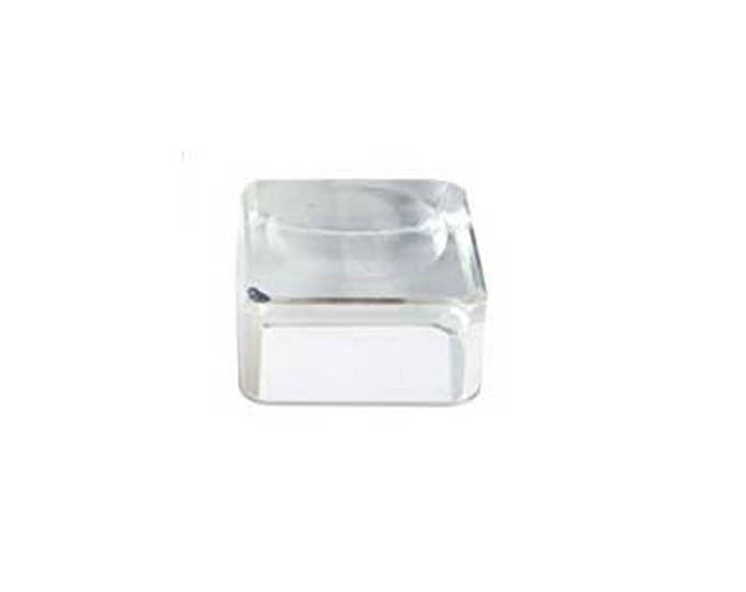 1 Inch Square Acrylic Crystal Ball Stand, Gem Stand, Cube Gemstone Stand, 1in Crystal Ball Gem Stand, Display Stand, Clear Display Supplies