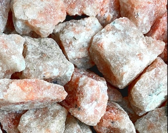 Bulk 1lb Rough Sunstone Gemstones, Bulk 1lb Wholesale Sunstone Untumbled Stones, Sunstone Gemstones, Bulk Crystals, Bulk Gemstones
