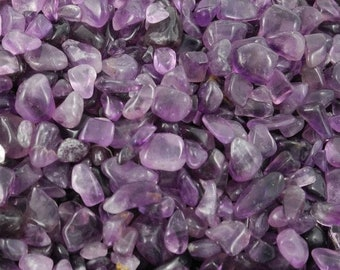 Bulk 1lb Mini 5-9mm Purple Amethyst Gemstone Chips, Small Polished Chips, Undrilled Gem Chips, Purple Amethyst Quartz Chips Crystal Stones