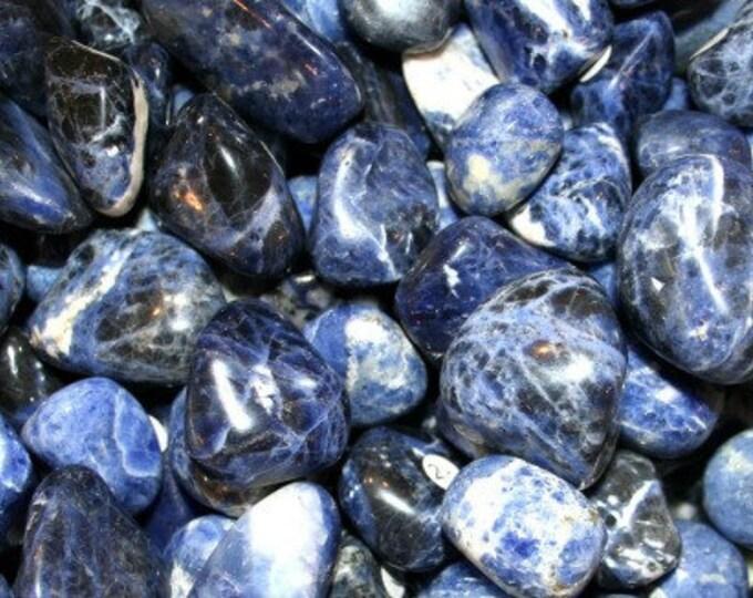Bulk 1lb Tumbled Blue White Sodalite Gemstones, Mixed Sizes Bulk Wholesale Sodalite Tumbled Stones, Tumbled Gemstones, Bulk Crystals Rocks