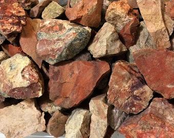 Bulk 1/2lb Brecciated Red Jasper Gemstones, Bulk Wholesale Rough Mexican Red Jasper Rocks Stones, Rough Bulk Jasper Gemstones, 1-2 Inches