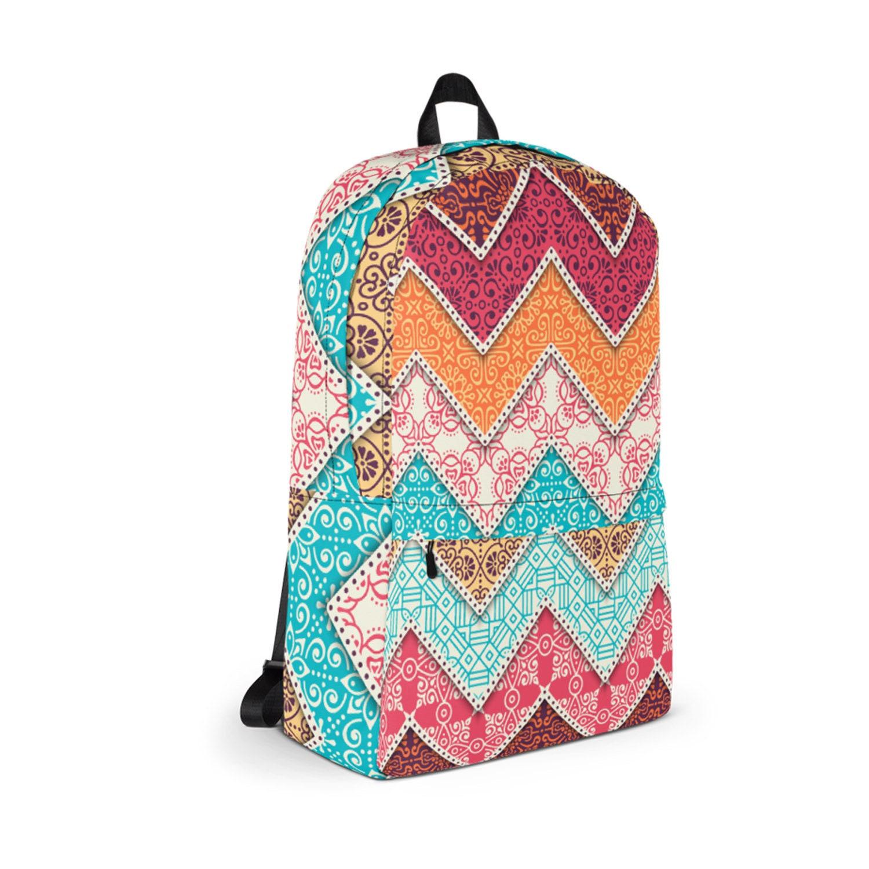 2ddd8c2783 Waterproof Backpack Boho Print Bohemian Backpack Durable