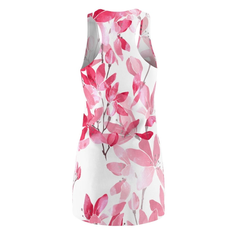 Japanese Cherry Blossom Floral Print Dress Women/'s Racerback Dress All Over Print Racerback Dress Apparel Clothing Womens Tank Dress