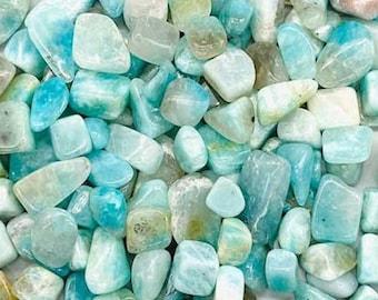 Bulk 1lb Mini 8-15mm Blue Amazonite Gemstone Chips, Small Polished Chips, Undrilled Gem Chips, Mini Amazonite Gravel Chips Crystal Stones