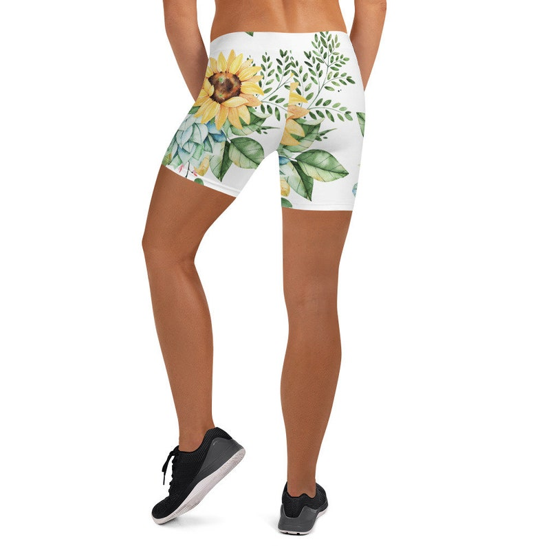 Bedtime Sleepwear Womens Yoga Shorts Boho Bohemian Floral Print Shorts Athletic Active Sportswear Shorts Gym Workout Shorts XS-3XL Size