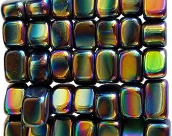 Bulk 1lb Tumbled Rainbow Magnetic Hematite Gemstones, Bulk Wholesale Magnetic Rainbow Hematite Stones Lot, Bulk Crystals, Bulk Gemstones