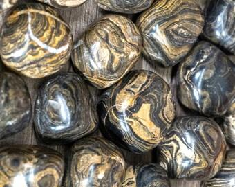 Bulk 1lb Tumbled Brown Stromatolite Gemstones, Bulk Wholesale Tumbled Stones, Tumbled Stromatolite Gemstones,Bulk Crystals, Bulk Gemstones