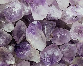 """Bulk 1lb Amethsyt Points, 1-2"""" Inch Rough Amethyst Crystals, Amethyst Quartz Points, Bulk Crystals Gems Minerals Specimens, 1 Pound Amethyst"""