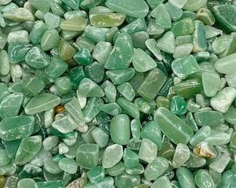 Bulk 1lb Mini 5-8mm Green Aventurine Gemstone Chips, Small Polished Chips, Undrilled Gem Chips, Mini Agate Gravel Chips Crystal Stones