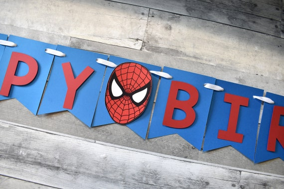 spiderman birthday banner name banner spiderman banner superhero