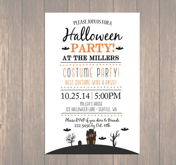 printable halloween invitation diy halloween costume party