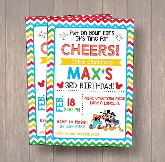 photograph relating to Printable Mickey Mouse Invitations known as Mickey Mouse Invites. Mickey Mouse Celebration Invitation