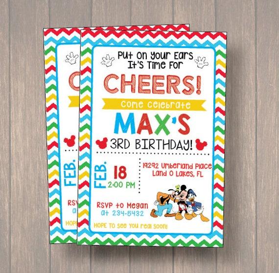 photo regarding Printable Mickey Mouse Invitations named Mickey Mouse Invites. Mickey Mouse Social gathering Invitation