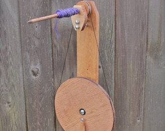 Budget Spindle Wheel - beginner spinning wheel - travel spinning wheel