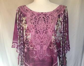 Shawl, boho shawl, hippie boho bohemian, fringe shawl, fringe clothing, original clothing, boho style, unique tops, free size clothing