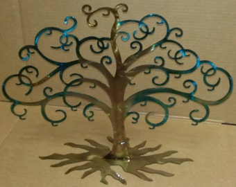 Metal Charm Display, Necklace Tree with Roots Tree of Life, Has 24 hooks
