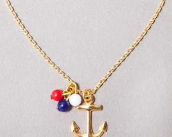 ANCHOR-Necklace, gold-filled