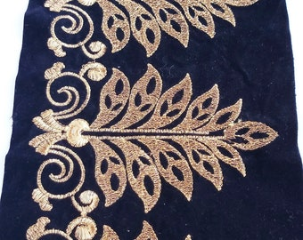 1m 25mm glitter velvet SEQUIN embroidered ribbon lace applique trimming decor