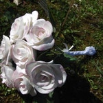Wedding bouquet Lord porcelain cold, customizable, model hand petal by petal