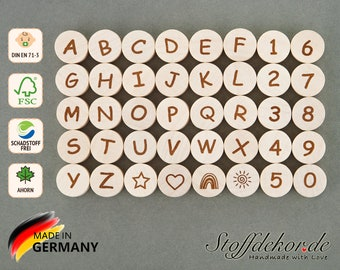 Letter beads Number beads Alphabet beads Letters Wooden beads A-Z Letters Wood alphabet Baby beads Thread beads Craft beads