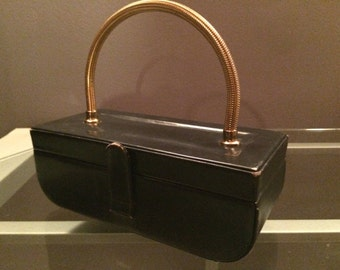 purse Sale Vintage Black evening purse clutch by Waldman