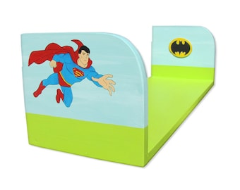 Nursery Shelves Wall Decor Superman Kids Shelf Childrens Furniture Super Hero Batman Bookshelf Superheros Decall