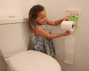 Toilettenpapier Halter Badezimmer Dekor, Kinder Design, TP Halter,  Bad Design, Von Hand Bemalt Kinder Wand Japan Decall