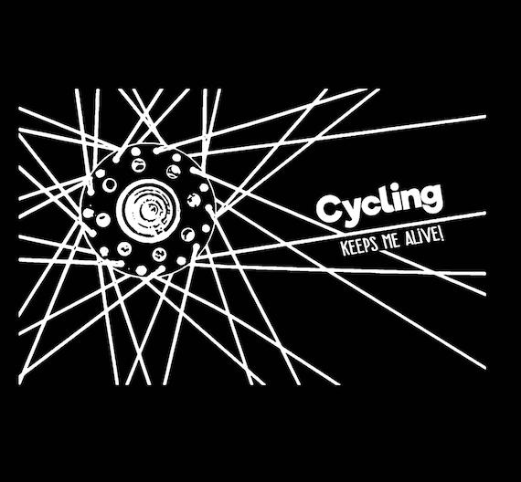 Bike T Shirt Biker Funny Mens Tee Bicycle Logo Cycling Graphic cotton S-2XL