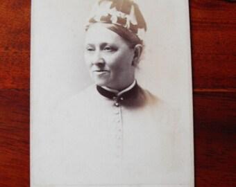Carte de Visite of lady in a strange hat.1887