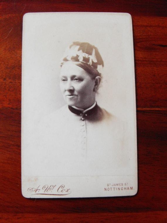 Carte De Visite Of Lady In A Strange Hat1887