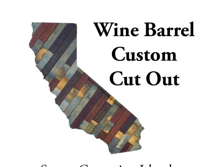 Wine Barrel Custom Cut Out