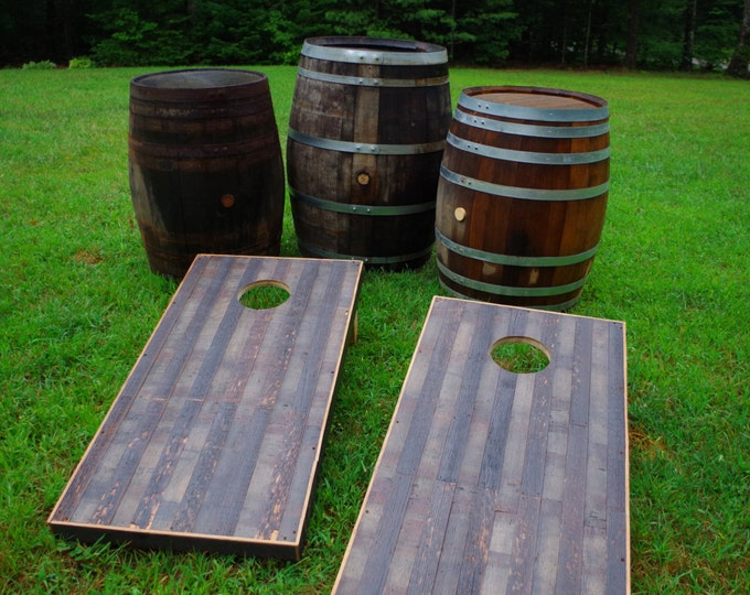 Whiskey Barrel Corn Hole Set