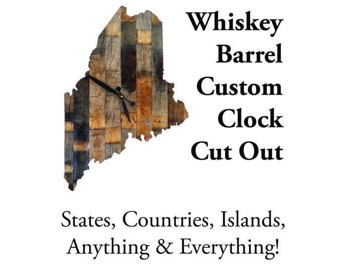 Whiskey Barrel Custom Clock Cut Out